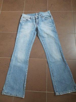7 For All Mankind Boot Cut spijkerbroek azuur Katoen