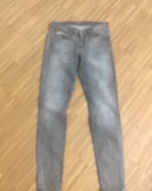 7 For All Mankind Jeans cigarette gris