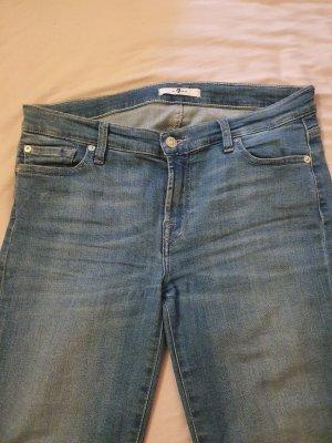 7 For All Mankind Jeans slim bleu azur