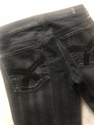 Jeans 7 For all mankind  Schwarz mit Pailletten Gr. 27