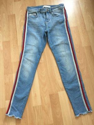 Zara Stretch Jeans multicolored denim