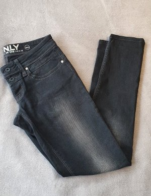Only Low Rise Jeans black-grey