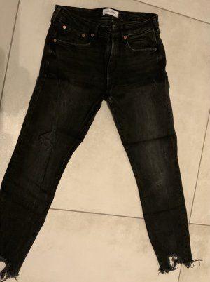 Zara Carrot Jeans dark grey