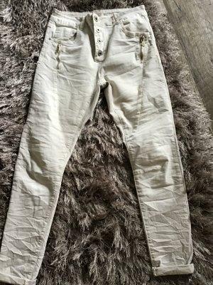 Lexxury Stretch jeans wolwit Katoen