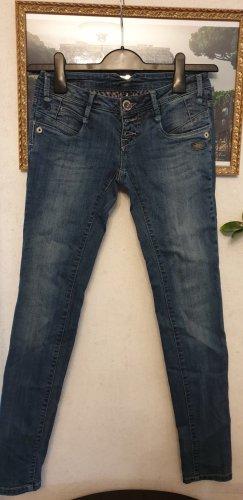 Gang pantalón de cintura baja azul