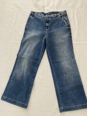 Marc O'Polo Jeans taille haute bleu acier coton