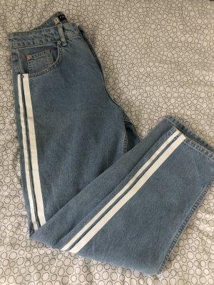 & DENIM Pantalone a vita alta multicolore