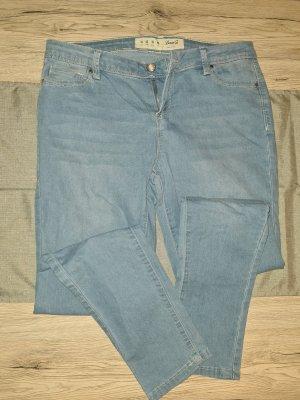 Denim Co. Pantalón elástico azul celeste