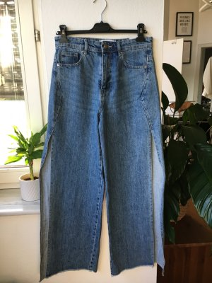 Denim Flares cornflower blue mixture fibre