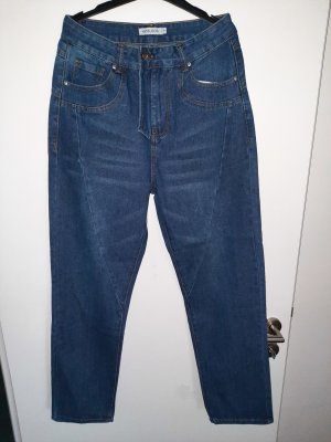 Misslook Workowate jeansy niebieski-ciemnoniebieski