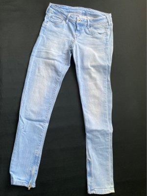 Pepe Jeans Damen Low-Rise Trousers light blue