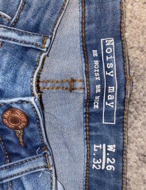 Noisy May Jeans a sigaretta azzurro-blu acciaio