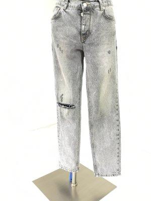 Mango Basics Jeans boyfriend gris