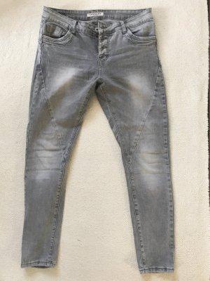Lexxury Jeans carotte gris clair