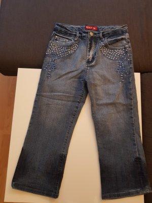 Jeans a 3/4 blu