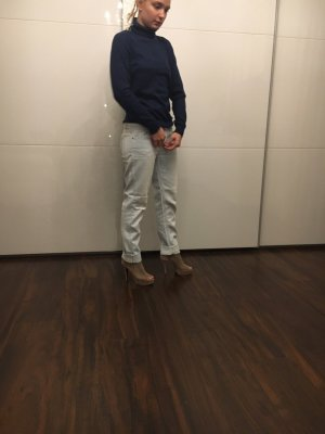 Jeans larghi blu pallido-azzurro