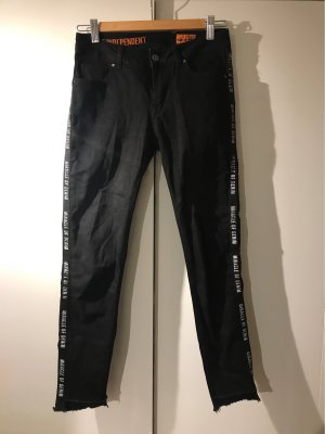 Miracle Of Denim Jeans a 3/4 nero-bianco