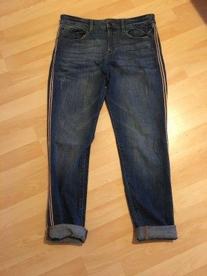 Esprit Boyfriend jeans baksteenrood-donkerblauw
