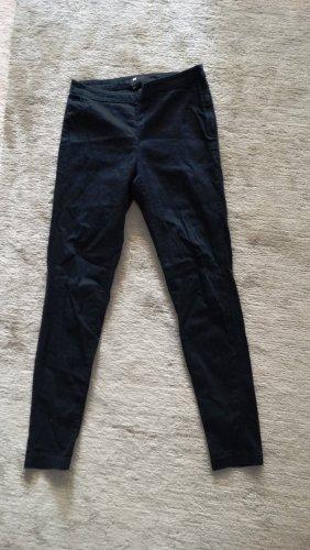 H&M Jeansy z prostymi nogawkami czarny-antracyt Bawełna
