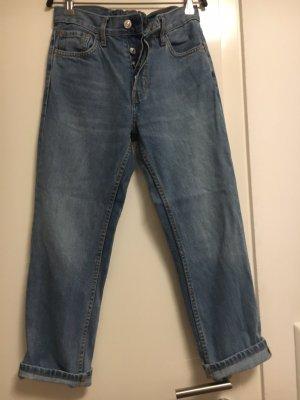 Mango Boyfriend Trousers slate-gray