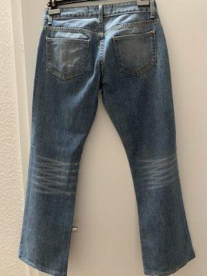 paper denim&cloth Jeans a zampa d'elefante blu fiordaliso