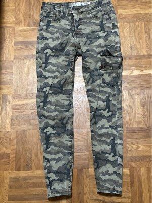 AIKI KEYLOOK Skinny jeans khaki-groen-grijs