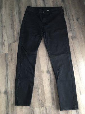 Hoge taille jeans zwart