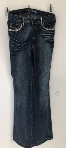 Denim Studio Boot Cut Jeans dark blue