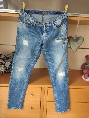 Cambio Jeans Jeansy z prostymi nogawkami stalowy niebieski