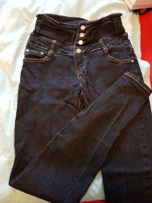 G&L Handmade Jeans a vita alta nero