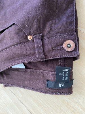 H&M Vaquero slim rojo amarronado-violeta amarronado