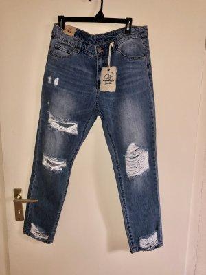 SMAGLI Jeans bootcut bleu azur