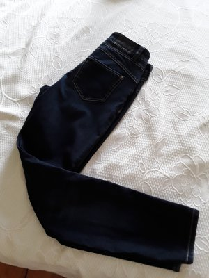 Cambio Jeans Strapped Trousers dark blue