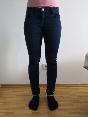FB Sister Jeans a sigaretta blu scuro Cotone