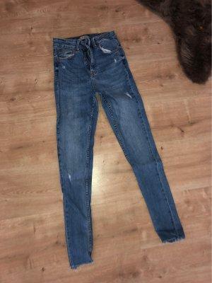 Denim Co. Jeans taille haute blanc-bleu