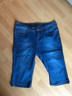 maxi blue. Jeans a 3/4 blu