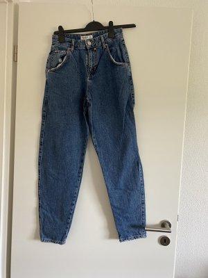 Pull & Bear Pantalone a vita alta blu