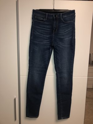 Guess Hoge taille jeans donkerblauw