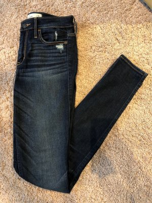 Abercrombie & Fitch Jeans taille haute bleu
