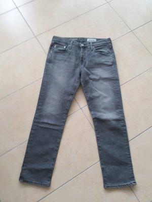 Adriano Goldschmied Boyfriend Jeans dark grey cotton