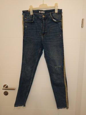 Zara Hoge taille jeans blauw