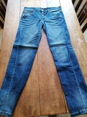 Anne L. Pantalone cinque tasche blu