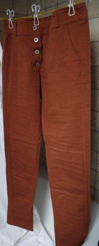 Made in Italy Dopasowane jeansy cognac Bawełna
