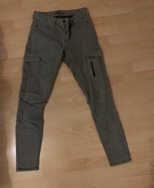 C&A High Waist Jeans green grey