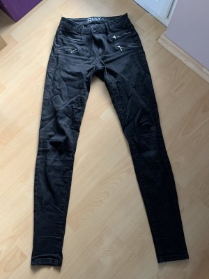 Only Jeans taille basse noir coton