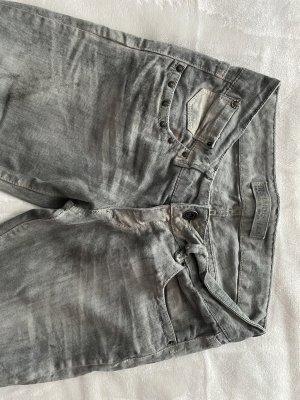 Zara Low Rise Jeans light grey-grey