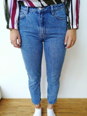Tally Weijl High Waist Jeans slate-gray-cornflower blue