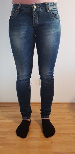 mister*lady Jeans a sigaretta blu-blu scuro Cotone