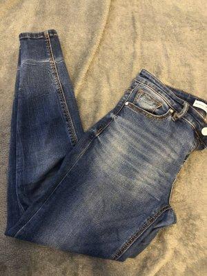 Stradivarius Jeans slim bleu