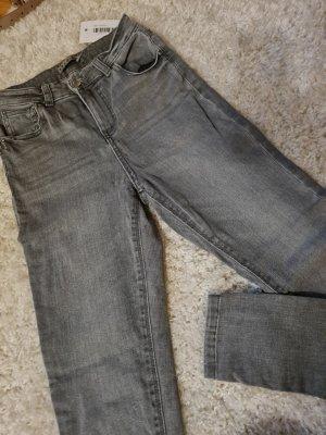 Denim Co. High Waist Jeans grey
